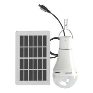 Ampoule Solaire, Luminosité Réglable Sur 3 Niveaux, Dc 5-6V 7W, 20Led - ASUPERMALL