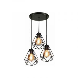 Lampes de Plafond Abat-Jour Suspension Lustre Cage 3 Luminaire pour Salon Cuisine Restaurant Bar Cafe - STOEX