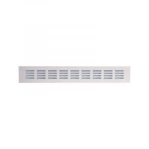 Grille aluminium à encastrer - 500 x 60 mm - Série 381/60 - Renson