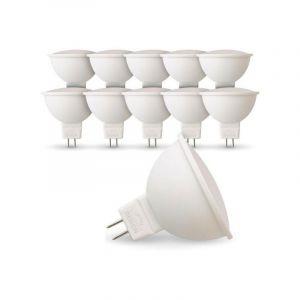 Lot de 10 Ampoules LED GU5.3 MR16 5W Eq 40W | Température de Couleur: Blanc chaud 2700K - ECLAIRAGE DESIGN