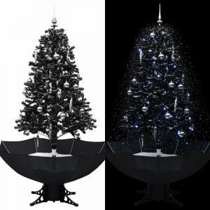 Vidaxl - Arbre de Noël neigeux avec base de parapluie Noir 170 cm PVC