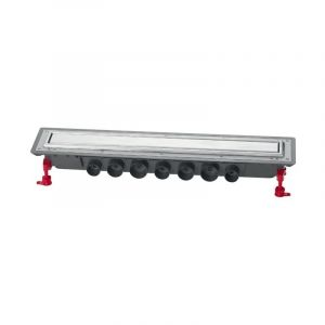 Caniveau douche VENISIO EXPERT Ht 89mm+Grille inox -1100mm - WIRQUIN