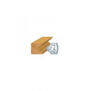 126 : jeu de 2 fers 40 mm multi quart de rond pour porte outils 40 et 50 mm - LUXOUTILS
