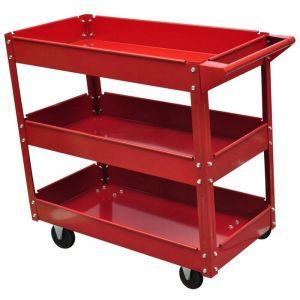 Chariot servante d'atelier charge 100 kg 3 bacs porte outils garage atelier bricolage - HELLOSHOP26