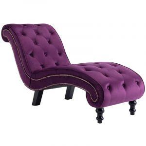 Vidaxl - Chaise Longue Velours Violet