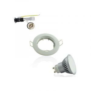 Spot Encastrable GU10 Blanc Fixe 7W 2700K Angle Large 120° - POLAR LIGHTING