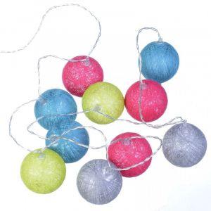 Guirlande lumineuse 10 lampions Multicolore - ACHAT UTILE