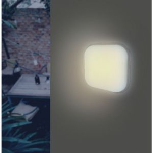 Applique LED Murale 20W Blanche Carré IP65 (Pack de 10) - couleur eclairage : Blanc Neutre 4000K - 5500K - SILAMP