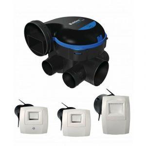 Kit complet 3 bouches et entrée d'air hygroréglable, gaines et vmc aldes easyhome hygro premium mw basse consommation