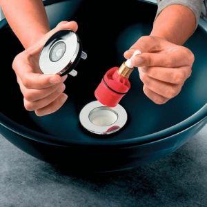 Bonde et siphon ultra compact NANO 6.7 D32 de WIRQUIN pour lavabo ou vasque Modèle - écoulement libre