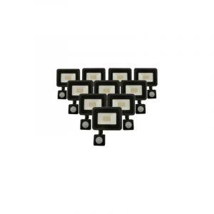 Projecteur LED 50W Détecteur de Mouvement Crépusculaire Extra Plat IP65 NOIR (Pack de 10) - Blanc Neutre 4000K - 5500K - SILAMP
