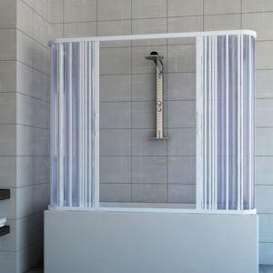 Pare baignoire douche 3 côtés en Plastique PVC mod. Nicla 70x160 cm avec ouverture centrale - IDRALITE