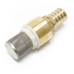 Laiton Clapet pied 26,16mm (3/4') DN20 anti-retour avec crépine d'aspiration en acier inox - WILTEC