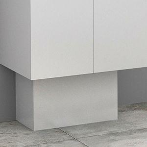 Cache-tuyaux coloris Blanc brillant - 50 cm - ACCESSOIRE-QUINCAIL