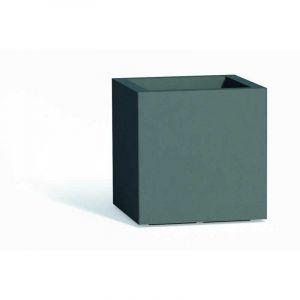 Pot de fleurs Cube en résine Carré H40 Gris 40x40Cm - IDRALITE