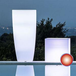 Pot de Fleurs Agave Rond avec Lampe Rouge H90 Ø 40Cm - IDRALITE
