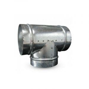 Raccord T en métal 160mm 90° ventilation conduit - WINFLEX