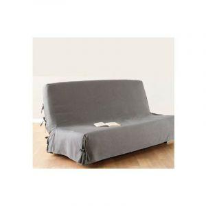 Housse de clic clac 140x200 cm gris clair 100% coton - ATMOSPHERA, CRÉATEUR D'INTÉRIEUR
