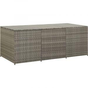 Boîte de rangement de jardin Résine tressée 180x90x75 cm Gris - YOUTHUP