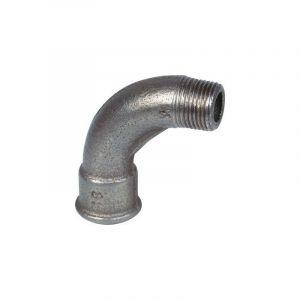 1 - coude 90° MF, grand rayon noir Mâle - Femelle 3/4''