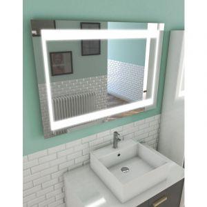 Miroir salle de bain LED auto-éclairant CHRONOS 100x70cm - AURLANE
