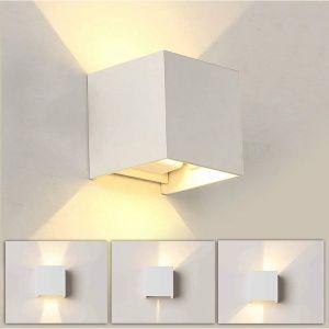 12W Led Applique murale chambre Moderne Interieur, Up and Down Design Réglable Lampe, Aluminium luminaires applique murale led Blanc pour Chambre Maison Couloir Salon (Blanc Chaud ) - STOEX