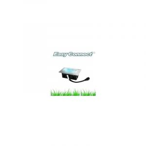 Mini Spot encastrable rectangle 6x10cm Inox Mini DECK Light 2W LED integrés IP67 Bleu extérieur EASY CONNECT - 65441