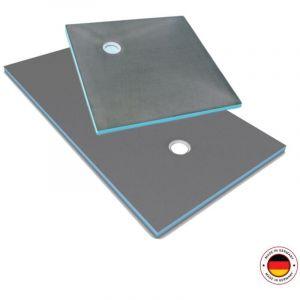 Receveur carré Wedi Fundo Primo écoulement excentré 900x900x40mm