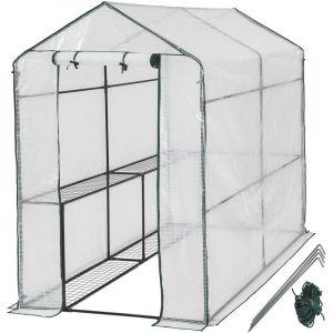 Serre de Jardin 2,2 m² + Bâche Armée Transparent - TECTAKE