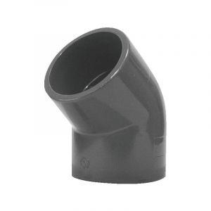 Coude PVC pression PR 45? FF 50 - GLYNWED
