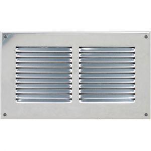 Grille ventilation métal 240x140mm avec moustiquaire - Couleur aluminium - FIRST PLAST