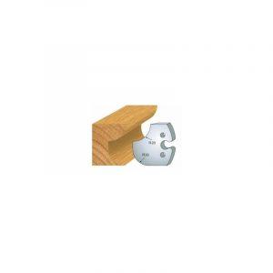 238 : jeu de 2 fers 50 mm congé quart de rond 20 mm pour porte outils 50 mm - LUXOUTILS