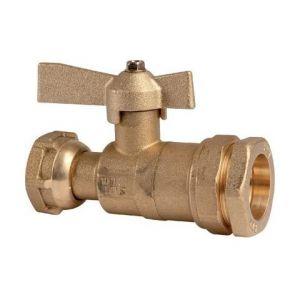 Somatherm - Robinet Droit Ecrou F1''(26/34) pour PE32 ACS