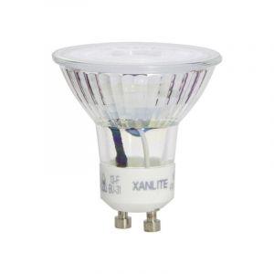 Xanlite - Ampoule LED spot, culot GU10, 4,5W cons. (35W eq.), lumière blanc chaud