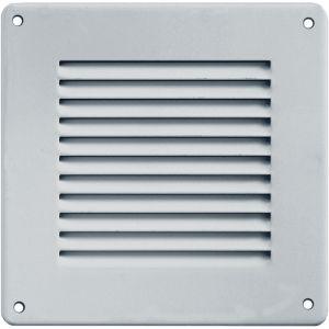 Grille ventilation métal 140x140mm avec moustiquaire - Couleur aluminium - FIRST PLAST
