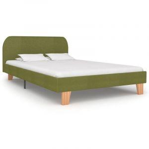 Cadre de lit Vert Tissu 120 x 200 cm - VIDAXL
