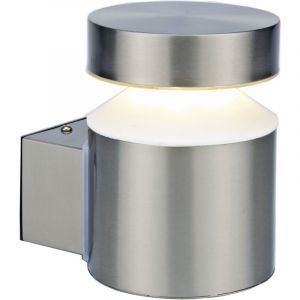 OSLO - Applique LED Montante IP44 - 6W Blanc Naturel 4000K 600lm - Inox - NORMALUX