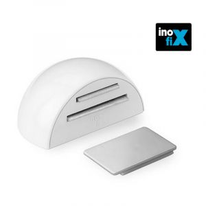 Butée de porte arrêt magnétique adhésif - blanc - INOFIX