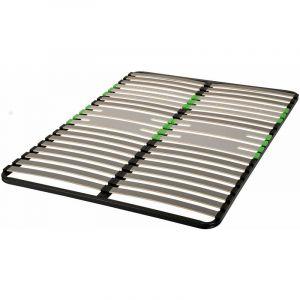 Cadre à lattes morphologique zone bassin épaules Luxe 140x190 - Noir