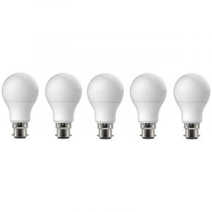 5 Ampoules LED-S11 A 60 - B 22 - 9 W - 3 000 K - 810 Lm - - - FOX LIGHT