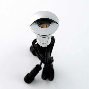 Mini spot LED encastrable 0,3W 12V | Blanc Chaud (2700K) - LECLUBLED