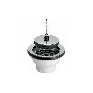 Bonde d'évier PVC à bouchon chaînette Ø 84 mm - NICOLL