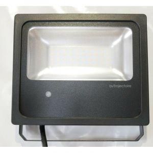 Projecteur extérieur Led 20W noir à détection 184X154X52mm 4000K 1930lm 230V 110° IP65 IK08 TORNADO 2 TRAJECTOIRE 004721