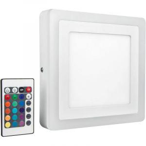 Applique LED LED COLOR WHITE SQ 200MM 19W LEDV 4058075227576 LED intégrée Puissance: 19 W RVBB - Ledvance
