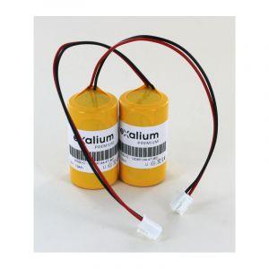 2x Piles Lithium 3.6V 13Ah pour sirène radio ATLS SIRYNX-RF, SIRUS-RF