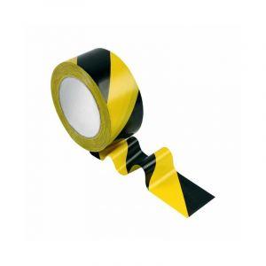 Adhésif de marquage au sol jaune / noir - 33 m - Novap