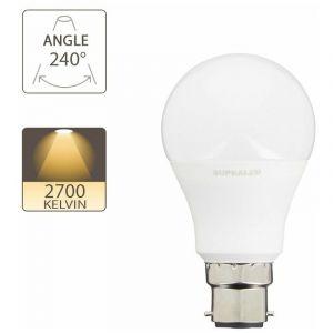 Ampoule LED (A60), culot B22, conso. 5W (eq. 40W), 470 lumens, blanc chaud   Xanlite - SUPRALED