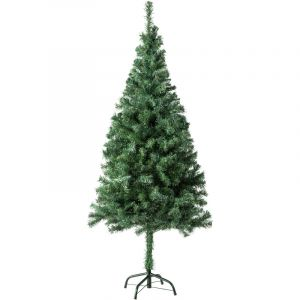 Sapin Artificiel de Noël 150 cm 310 Branches en PVC Vert - TECTAKE