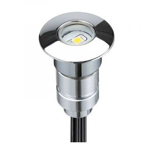 Mini spot LED encastrable rond 0,3W 12V | Rouge - LECLUBLED