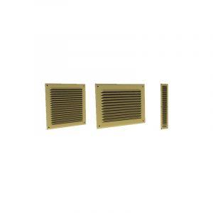 Grille à auvents en aluminium prélaqué doré 300 x 300 GAM - GADO ECONONAME - GADO300GAM 300 x 300 Grille anti-moustiques